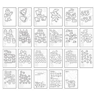 Image 2 of 1-20 Colouring Book Orchard Toys  (£3.99)