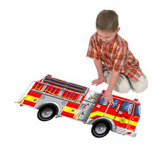 Image 2 of Fire Engine 24 Piece Floor Puzzle - Melissa and Doug  (£10.99)