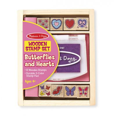 Butterfly and Hearts Stamp Set - Melissa and Doug (£5.99)