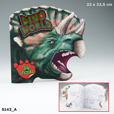 Dino World Colouring and Sticker Book - Depesche (£3.50)