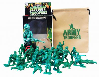 Army Troopers With Storage Bag (£6.99)