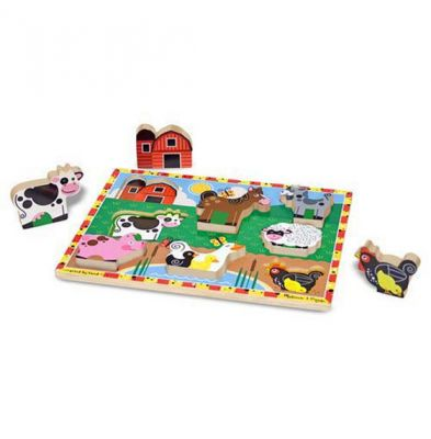 Image 2 of Farm Chunky Puzzle - Melissa and Doug  (£10.99)