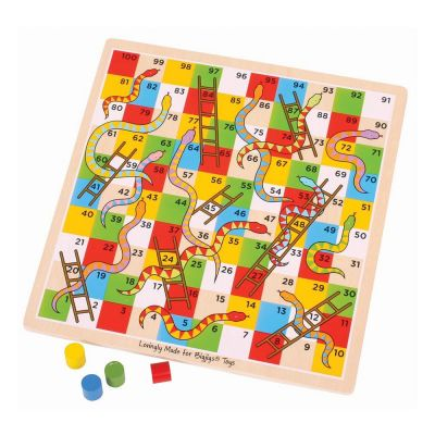 Wooden Snakes and Ladders - Bigjigs (£9.99)