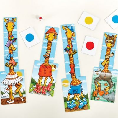 Image 2 of Giraffes in Scarves - Orchard Toys  (£8.99)