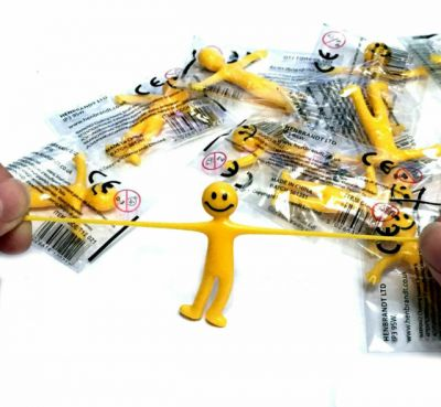Image 2 of Yellow Smiley Stretchy Man (£0.40)