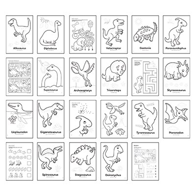 Image 2 of Dinosaur Colouring Book Orchard Toys  (£3.99)