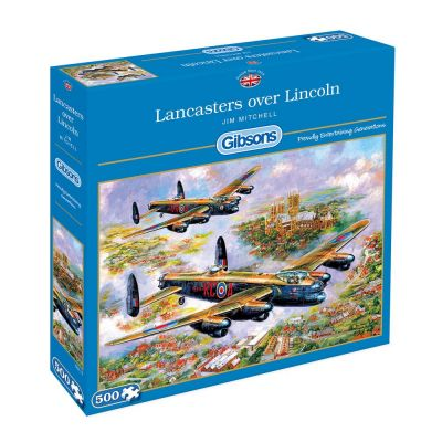 Lancasters Over Lincoln 500 Piece Gibsons Puzzle (£12.99)