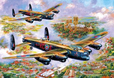 Image 2 of Lancasters Over Lincoln 500 Piece Gibsons Puzzle  (£12.99)