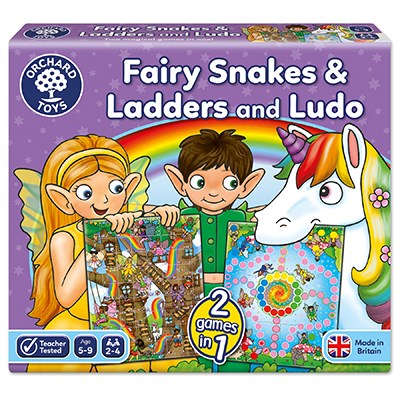 Fairy Snakes & Ladders and Ludo Board Game (£10.99)