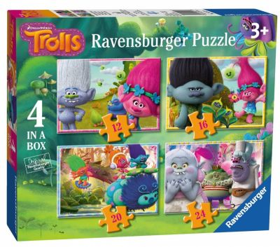4 In A Box Trolls Ravensburger Puzzles (£7.99)