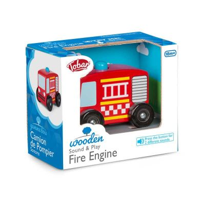 Wooden Sound And Play Fire Engine (£8.99)