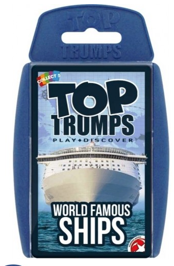 Top Trumps World Famous Ships (£5.99)