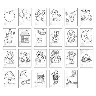 Image 2 of ABC Sticker Colouring Book - Orchard Toys  (£3.00)