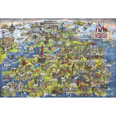 Image 2 of Beautiful Britain 500 Piece Jigsaw Puzzle  (£12.99)