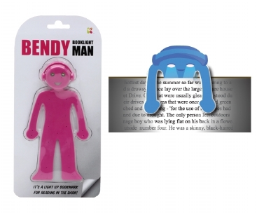 Pink Bendy Booklight Man (£4.99)