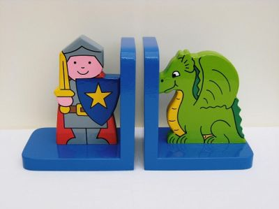 Knight and Dragon Bookends (£17.99)