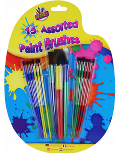 Pack of 15 Paint Brushes (£2.25)