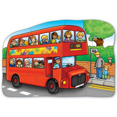 Image 2 of Little Bus Double Sided Puzzle Orchard Toys (£6.99)