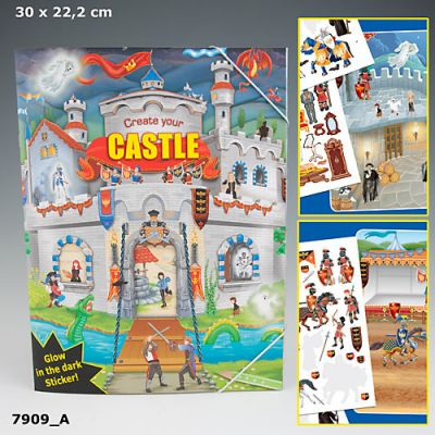 Create Your Castle Sticker Book - Depesche (£5.50)