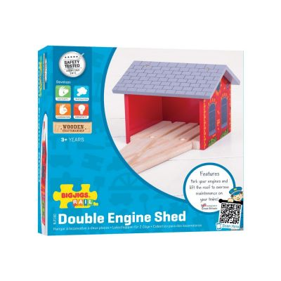 Double Engine Shed - Bigjigs Toys (£12.99)