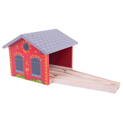 Image 4 of Double Engine Shed - Bigjigs Toys  (£12.99)