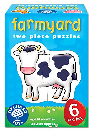 Farmyard Two Piece Puzzles Orchard Toys (£7.99)