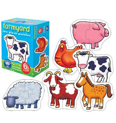 Image 2 of Farmyard Two Piece Puzzles Orchard Toys  (£7.99)