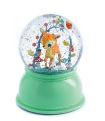 Djeco - Snowglobe Night Light Woodland Fawn 2999