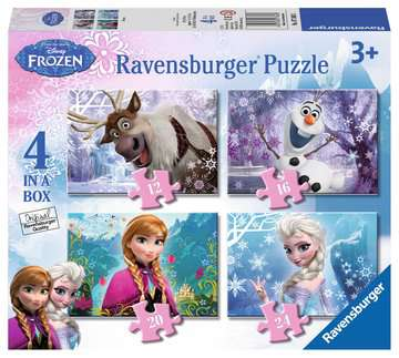 Frozen 4 In A Box Puzzles By Ravensburger (£7.99)