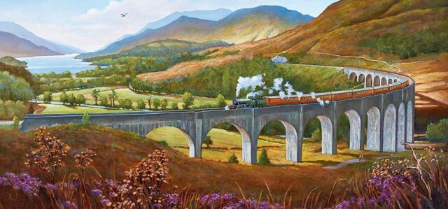 Image 2 of Glenfinnan Viaduct Gibsons 636 Piece Jigsaw Puzzle  (£13.99)