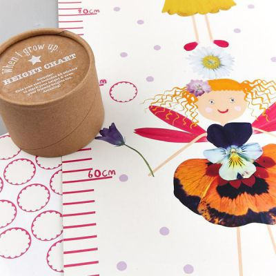 Image 2 of Fairy Height Chart With Stickers - Floss and Rock  (£7.99)