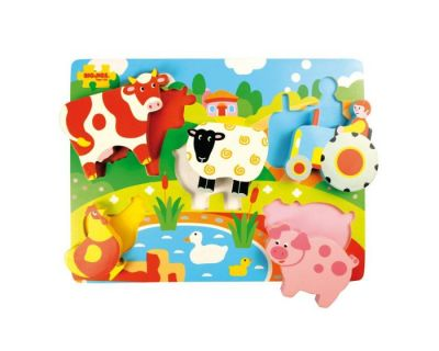 Chunky Lift Out Farm Puzzle - Bigjigs (£10.99)