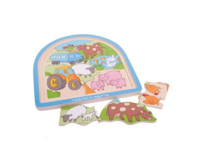 Farm Arched Puzzle - Bigjigs Toys (£10.99)