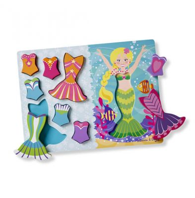 Image 2 of 9 Piece Chunky Mermaid Dress Up Puzzle  (£10.99)