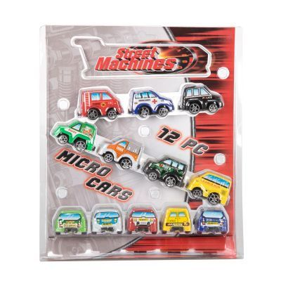 12 Piece Micro Cars Pull Back Power (£4.50)