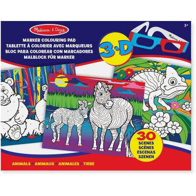 Image 1 of Melissa and Doug 3D Animal Colouring Pad Was £5.75 (£3.99)