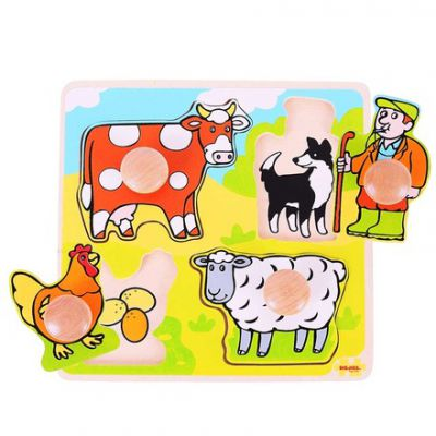 My First Peg Puzzle Farm Bigjigs (£6.99)