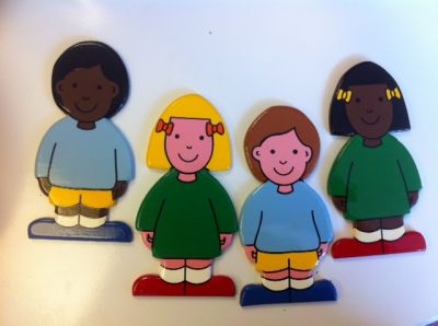 Set of 4 people stickabouts (£15.00)