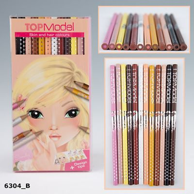 Top Model Skin & Hair Coloured Colouring Pencils (£5.50)