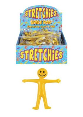 Yellow Smiley Stretchy Man (£0.40)