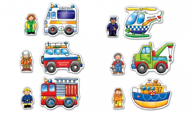 Image 2 of Rescue Squad Puzzles - Orchard Toys  (£7.99)