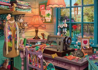 Image 2 of The Sewing Shed 1000 Piece Ravensburger Puzzle  (£15.99)