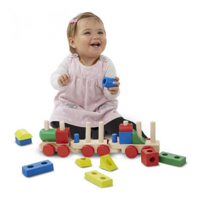 Image 2 of Wooden Stacking Train  (£18.99)