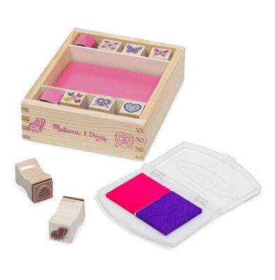 Image 2 of Butterfly and Hearts Stamp Set - Melissa and Doug (£5.99)