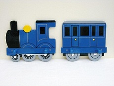 Large Train and Coach Coat Peg (£15.99)