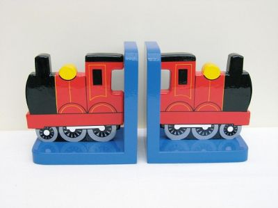 Red Train Bookends (£17.99)